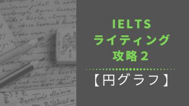 【IELTSライティング】Task1の円グラフの見方・書き方・必須語彙・お勧め参考書